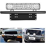 Nilight Led Light Bar Mounting Bracket Front License Plate Frame Bracket License Plate Mounting Bracket Holder for Off-Road L