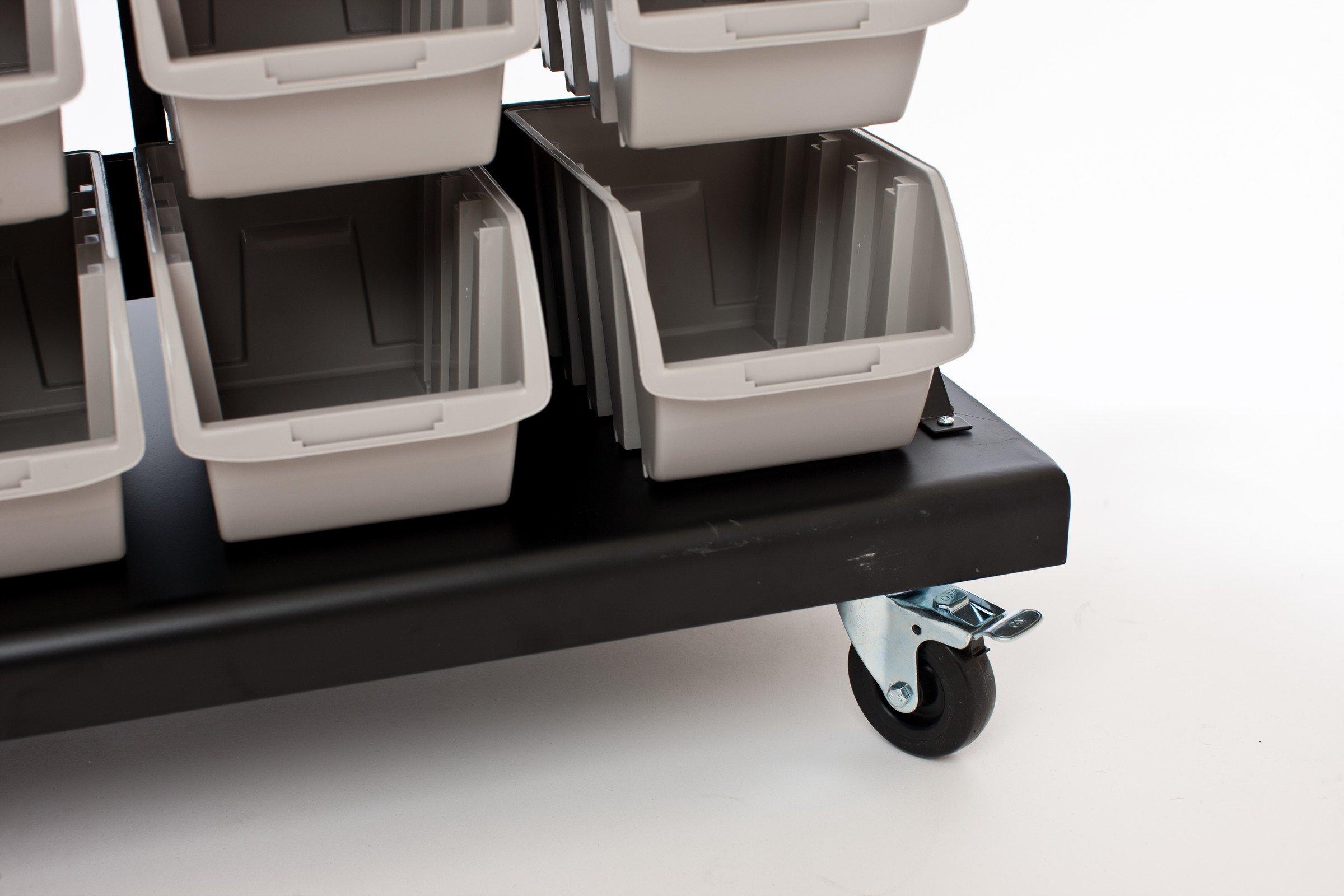 TRINITY Dual-Sided Mobile Bin Rack by Trinity (Image #7)