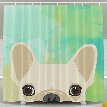 Image Unavailable Not Available For Color Funny French Bulldog Print Bath Shower Curtain