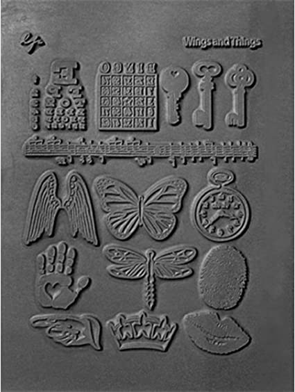 - Rubber Mold Crafting Texture Stamp Illusionary Lisa Pavelka Polymer Clay Art Supplies Style #187
