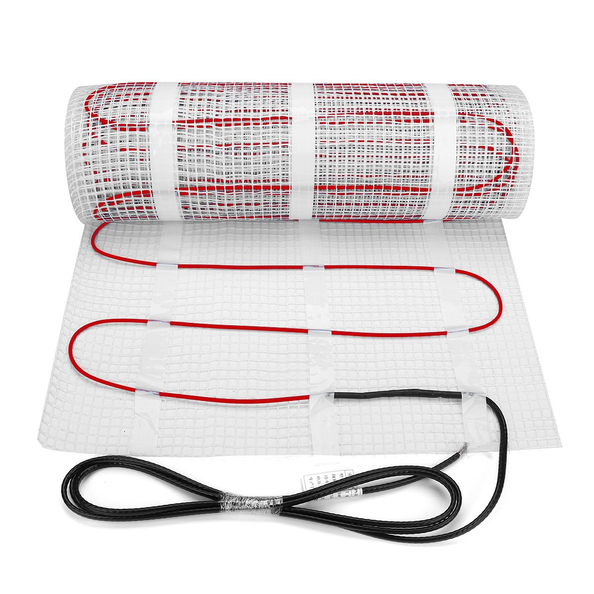 50 sqft SENPHUS 120V Electric Radiant Underfloor Heating System Warm In Tiles Cable Self-adhesive Mat by Senphus (Image #1)