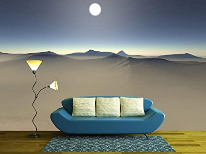 Wall26 Digital Visualization Of A Surreal Landscape Removable