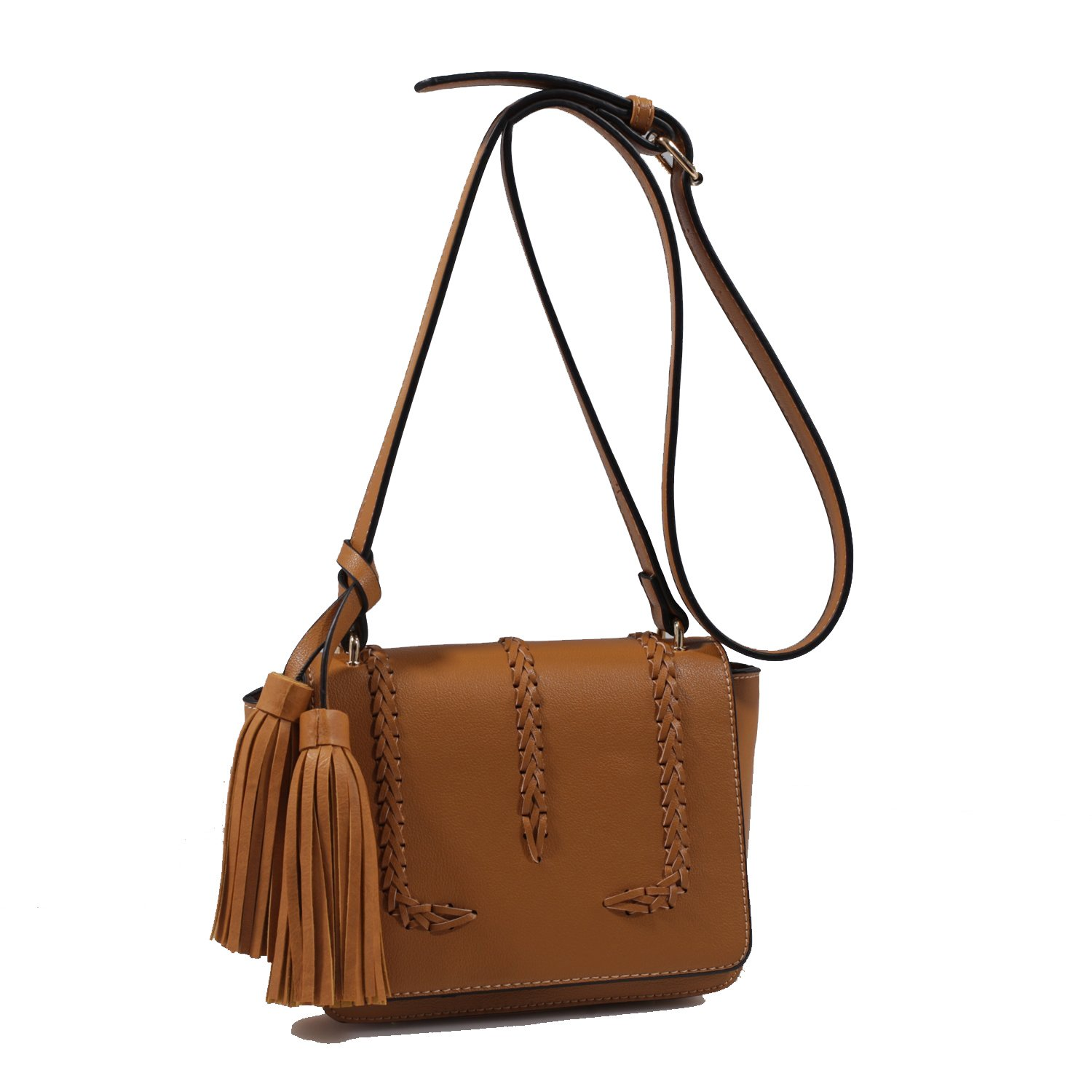 876485bc8a45 Isabelle Designer Inspired Whipstitched Faux Leather Crossbody Bags -  Black  Handbags  Amazon.com