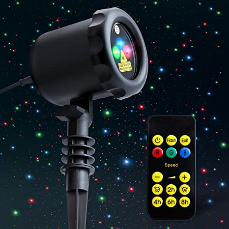 MYCARBON Outdoor Laser Light Projector Static Christmas Laser Light Show  Red Green Blue Holiday Projection Lights - Amazon.com: MYCARBON Outdoor Laser Light Projector Static Christmas