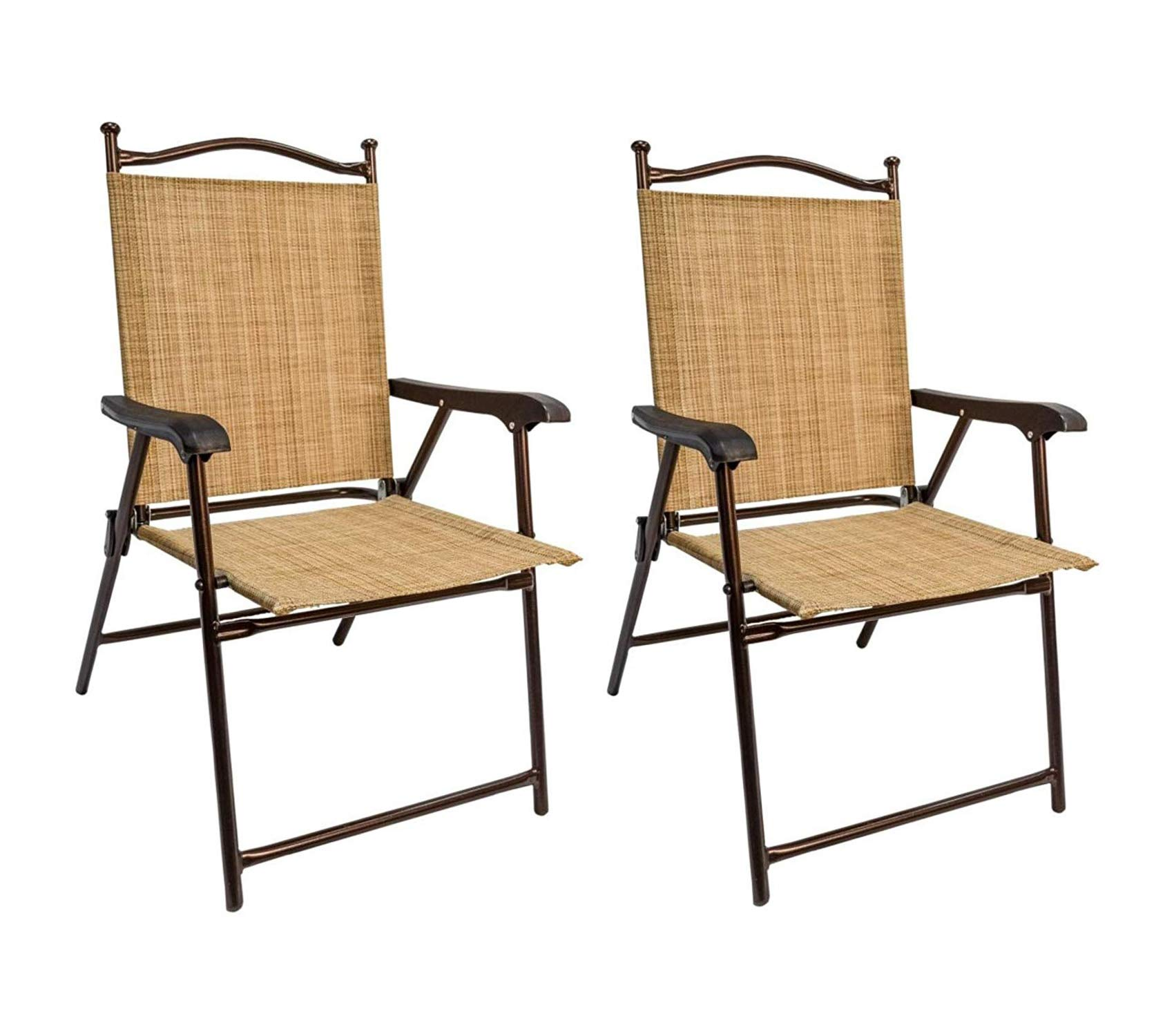Patio Outdoor Garden Premium Greendale Home Fashion Outdoor Sling Back Chairs, Set of 2