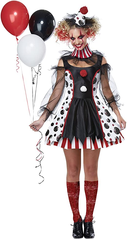 California Kostüme Korkenzieher Clown Locken Perücke Adult Halloween Kostüm