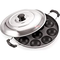 iVBOX Eco Non-Stick 12 Cavity Appam Patra/Maker with Stainless Steel Lid