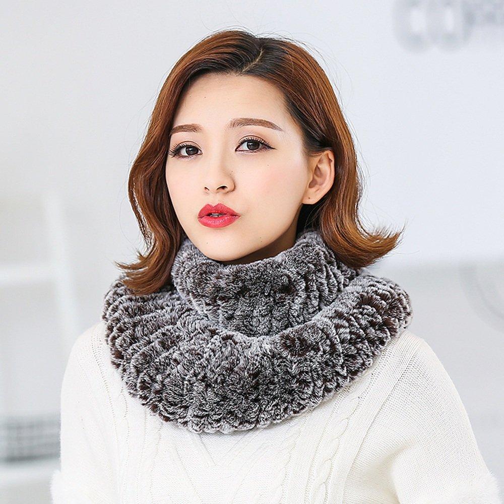 HAIZHEN alla moda alla moda Ragazze Ms inverno sciarpa esterna caldo tessuto elastico collare doppio strati Morbido e caldo ( Colore : 7 )