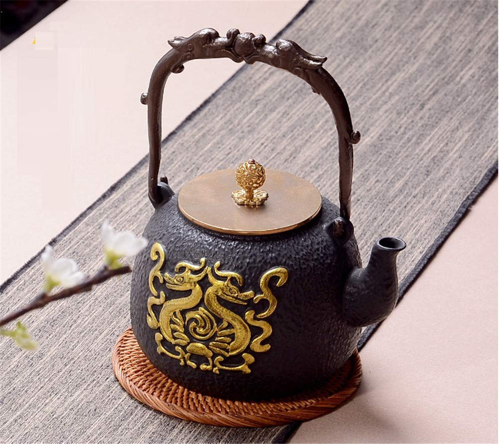 Tetera + cocina eléctrica de cerámica conjunto olla de hierro ...