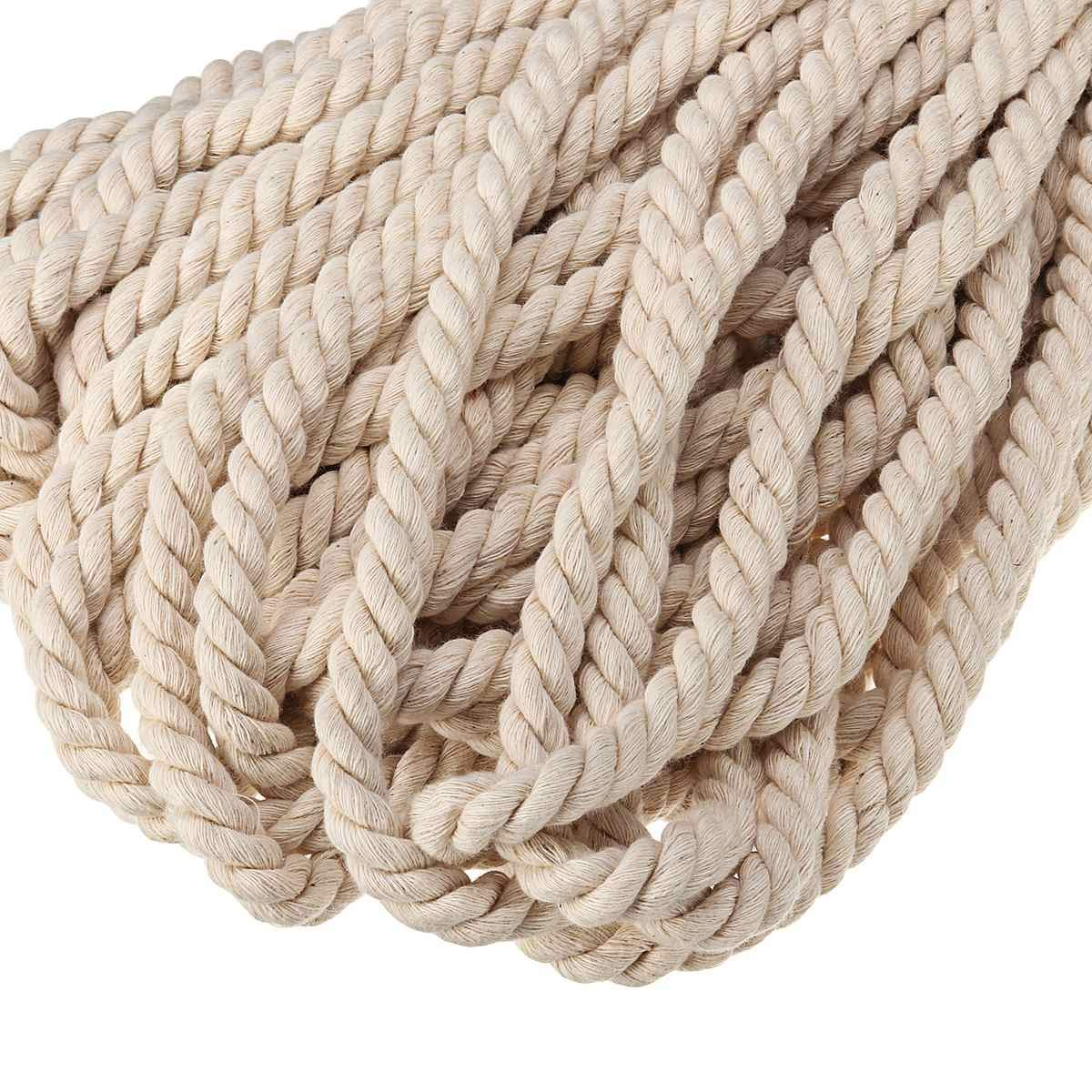 FINCOS Macrame Rope Natural Beige 10mm 45m Twisted Cord for Handmade Enthusiasts for Artisan DIY Hand Craft Cords Pure Cotton by FINCOS (Image #6)