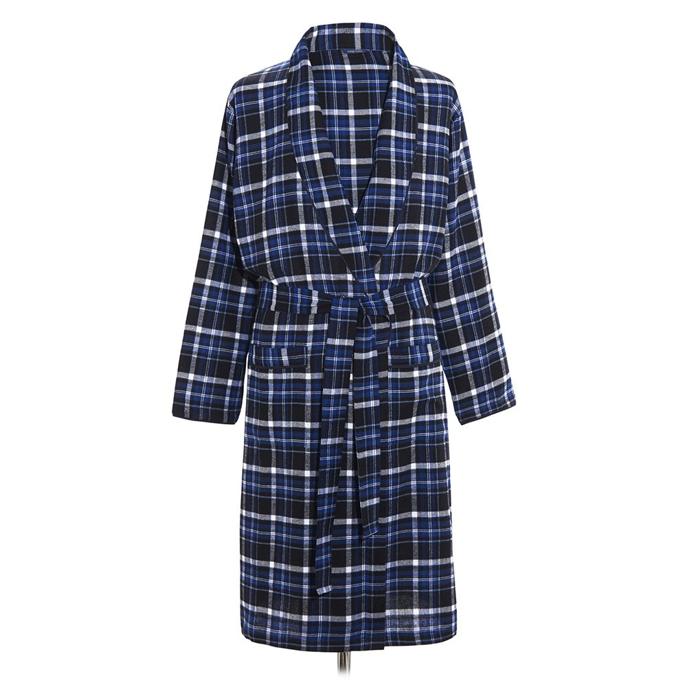 Samuel Windsor Men's 100% Cotton Poplin Dressing Gowns In Traditional Tartan and Check Designs