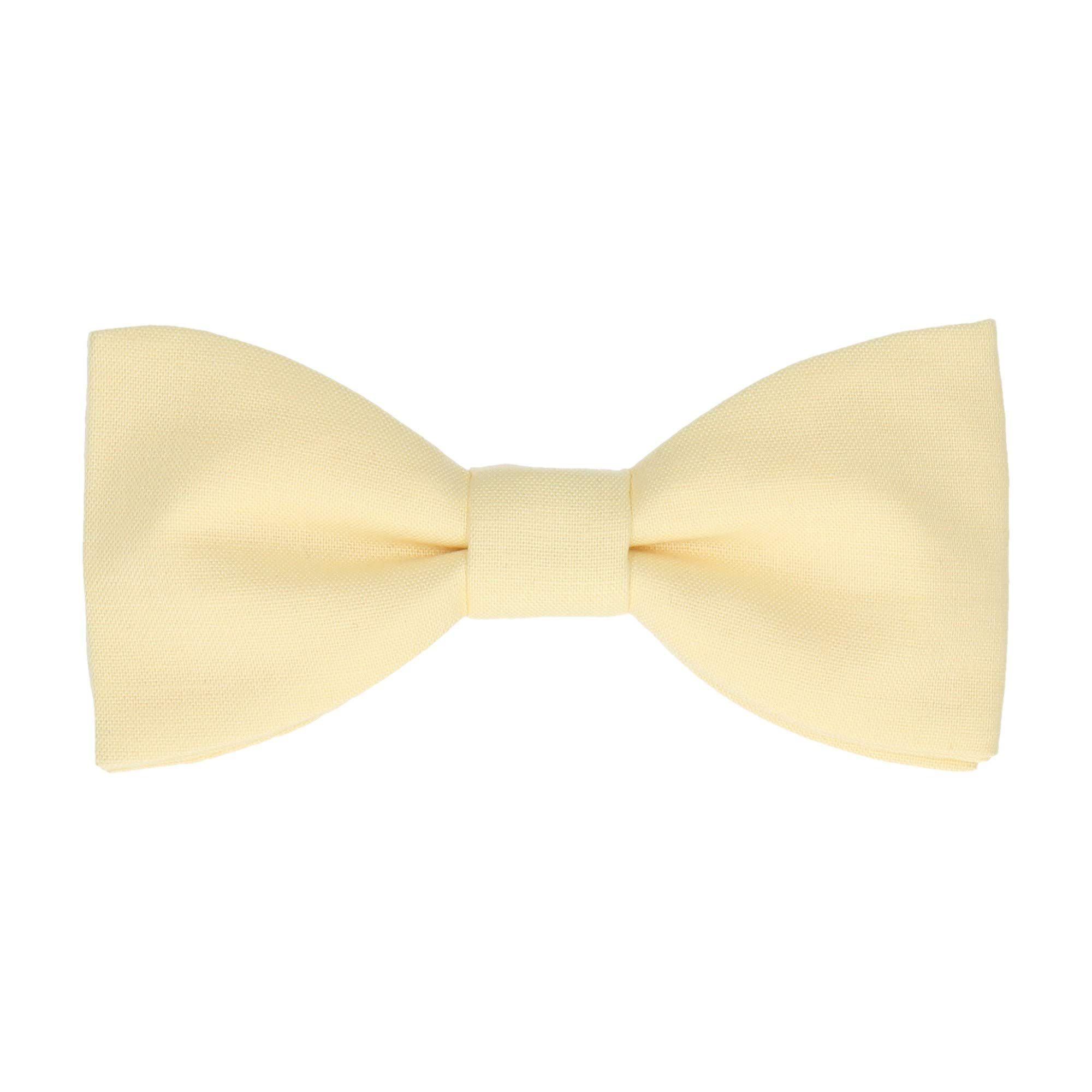 41535179a420 Mrs Bow Tie Cotton Bow Tie, Pre-Tied - Pale Yellow