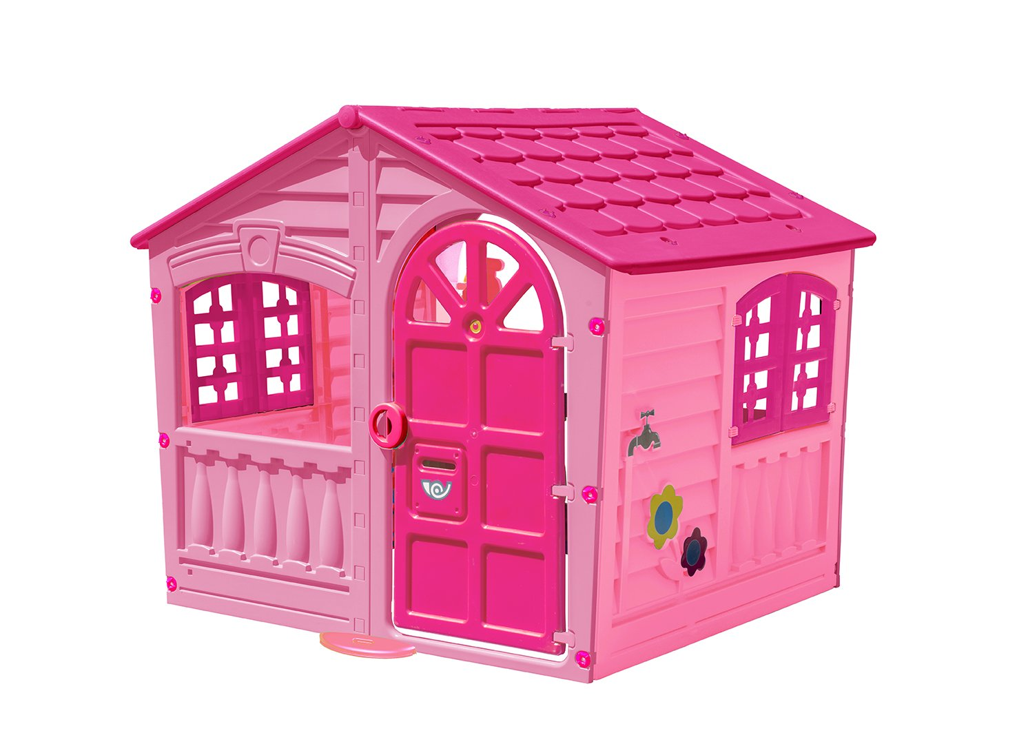 Amazon.com: Palplay Kids Outdoor Playhouse - Colorful Pink & Purple ...