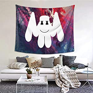 SJNBAKGA Tapestry Dj Mar-shmello Mind Wall Tapestry Home Decoration-Tapestry Bedroom Dormitory Printed Psychedelic Tapestry 60×51inch