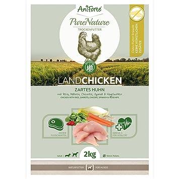 NUEVO aniforte 100% Natural trockenfutter Natural de perros Forro getreidefrei País Chicken 2 kg, gallina tierna con Arroz, zanahorias y knackigem Chicorée, ...