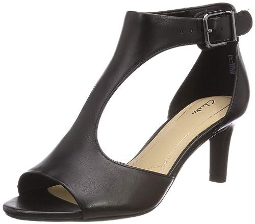 53649232b6fc Clarks Women s Laureti Star Black Leather Fashion Sandals-3 UK India (35.5  EU