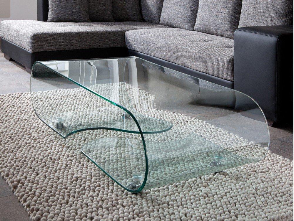 Glastisch Couchtisch Couchtisch Couchtisch auf Rollen, Länge 90 cm, Glasdesign 53af77