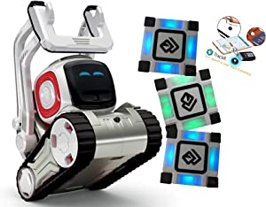 Anki Cozmo A Fun, Educational Toy Robot for Kids with 3 Cubes & Dock Item Tracker for Cozmo Kit - for Android & iOS Apple (Renewed)