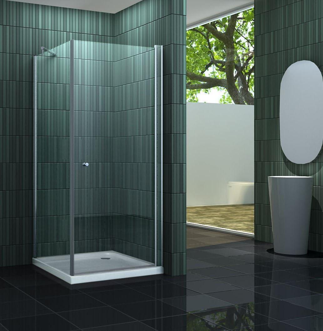 Mampara de ducha sin BANHO-ONE 100 x 100 cm: Amazon.es: Bricolaje y herramientas