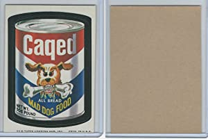 1974 Topps, Wacky Packs, 7th Series, Caged Mad Dog Food