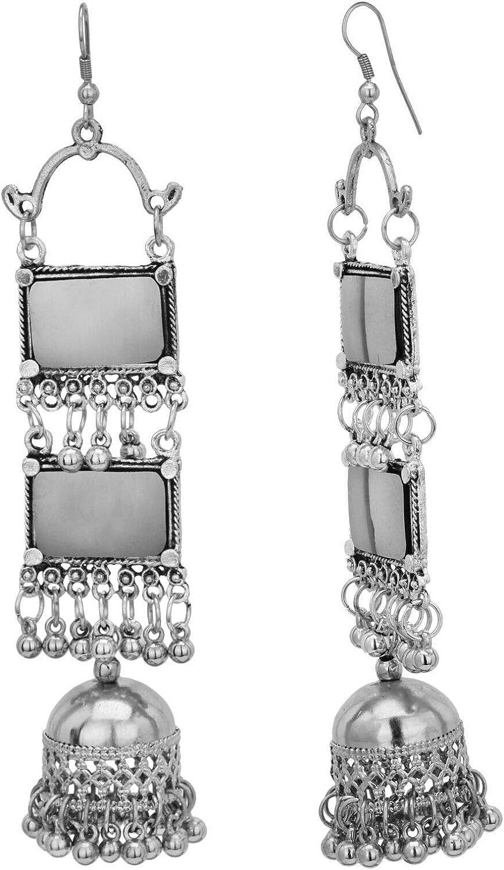Oxidised Vintage Look Silver Earrings for Women /& Girls By Gahnemall