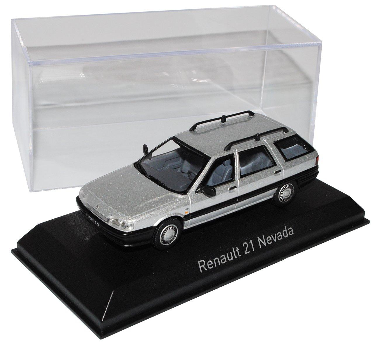 Norev Renault 21 Nevada Limousine Silber 1986-1995 1/43 Modell Auto mit individiuellem Wunschkennzeichen