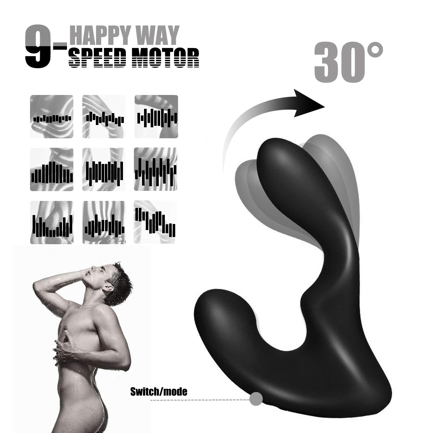 Personal Vibrator Men Invisible Prostate Adult Toy Wireless Remote Control Super Vibrator Panty Speed Tshirt