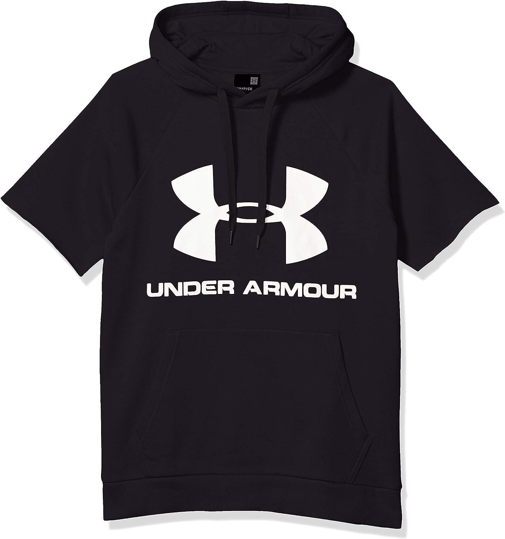 Under Armour Men's Rival Fleece Logo Short Sleeve Pullover Hoodie