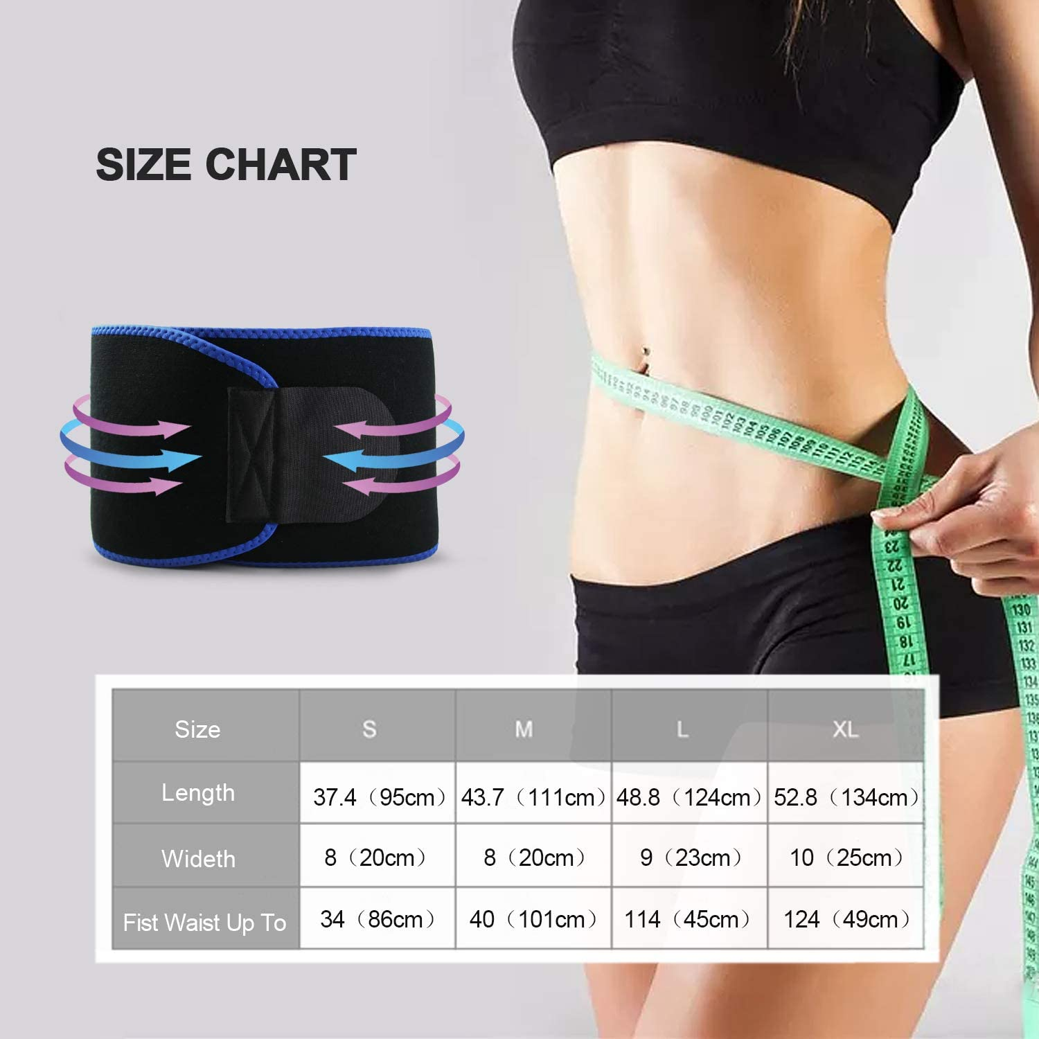 Ufanore Waist Trainer Belt for Women Body Shaper Sweat Waist Trimmer for Weight Loss Breathable Abdominal and Low Back Support