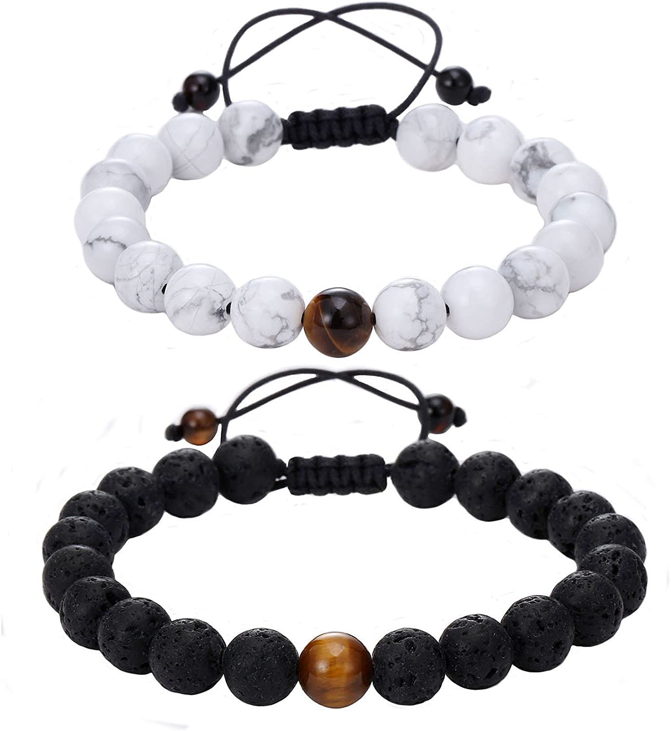 Beaded Necklace Style Medic Alert Button Holder In Semi Precious Stones Of Agate and Jade