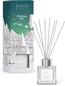 BAGO home Christmas Collection Oil Reed Diffuser Set - Christmas Tree, 90 ml 3 oz