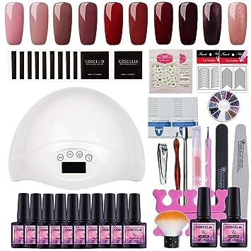 Amazon.com: Fashion Zone 36W UV LED lámpara secador de uñas ...