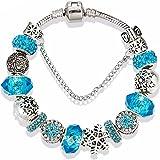 Bracelet charms à breloques perles européen - pour femme et petite fille  adolescente - fleur - a64ecce4297a