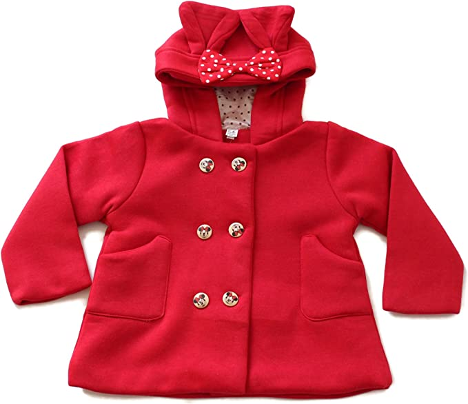Baby Toddler Fall Winter Red Trench Coat Outwear Jacket