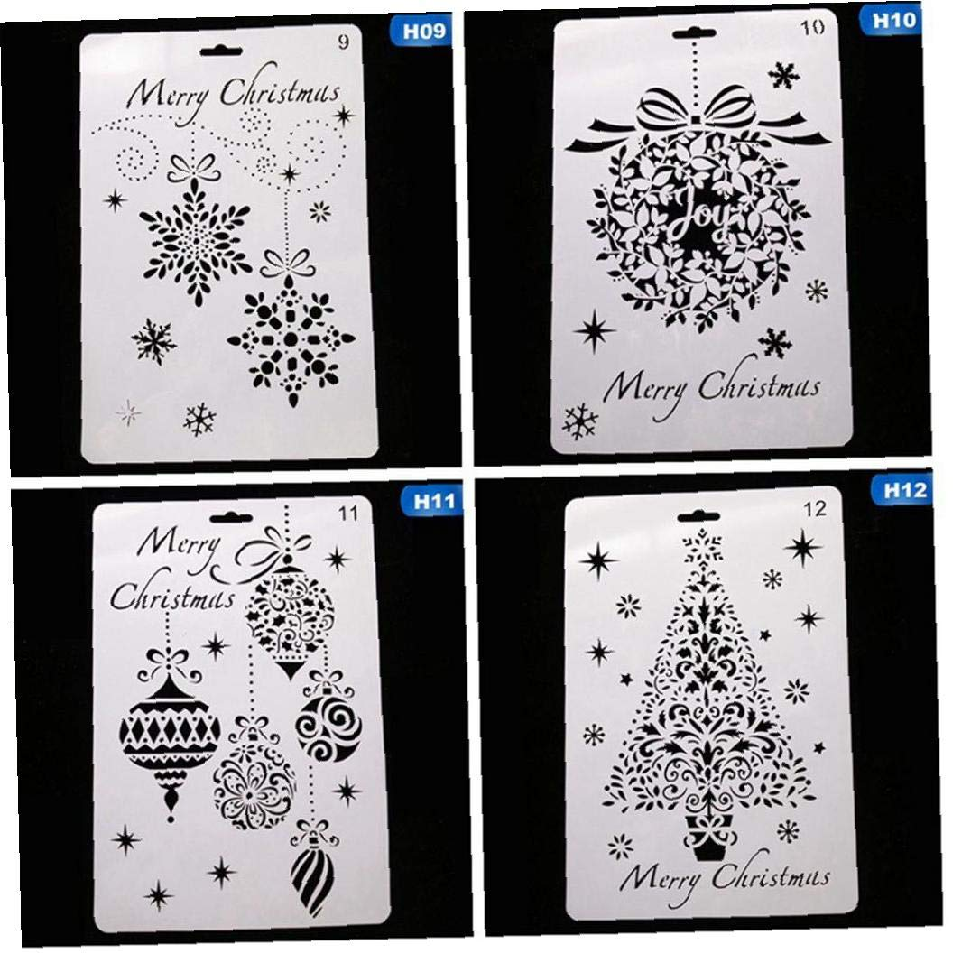 Zonfer Milch-Kuchen-nachtisch-Kuchen-Schablone Schablone Cartoon Weihnachten Mould Kaffee Schablone Airbrush-malerei-Kunst-Kuchen-Spraying Mold