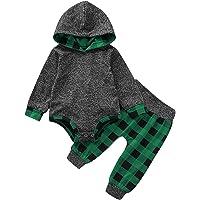 DaMohony Yenidoğan Bebek Erkek Kıyafetleri Kapüşonlu Tulum Kıyafet Seti Kapüşonlu Tulum Pantolon