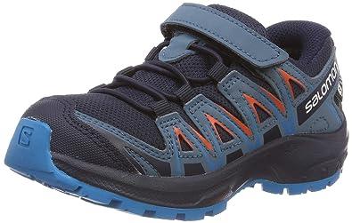 online store 20217 00c6c Salomon Kids XA Pro 3D CSWP J, Trail Running Shoe, navy blazer   mallard