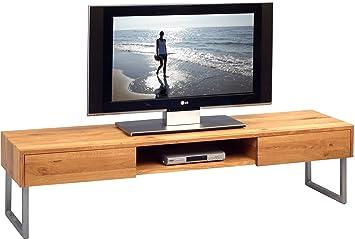 hometrends4you 353922 tv mobel tv bank lowboard tessa 2 echtholz wildeiche
