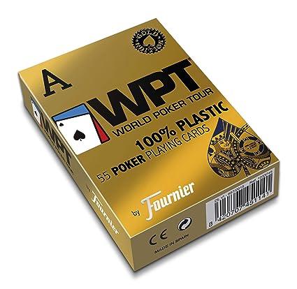 Fournier World Poker Tour Baraja de Cartas Profesional Calidad Casino, Color Rojo/Azul (451141)