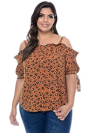 158b3bcc29 Blusa Ciganinha Plus Size Juliana  Amazon.com.br  Amazon Moda