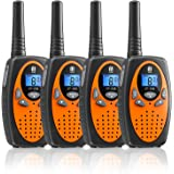 Walkie Talkies 4 Pack, MTM 22 Channels Two Way Radios Walkie Talkies for Kids and Adults Handheld Long Range Clear Sound…