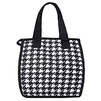 50c7fa02b0 Amazon.com  Artecobags Insulated Lunch Bag - Black   White ...