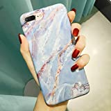 iPhone 8 Plus Case, iPhone 7 Plus Case, Jwest Marble Design Bumper Slim TPU Soft Rubber Silicone Cover Anti-Scratch Thin Back Protective Phone Case for Apple iPhone 7 Plus / 8 Plus White