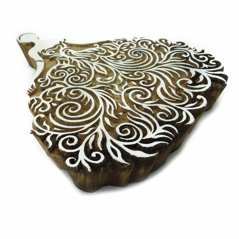 Holztextilmarken Seepferdchen Handcarved Scrapbook Stempel Dekorativ Block