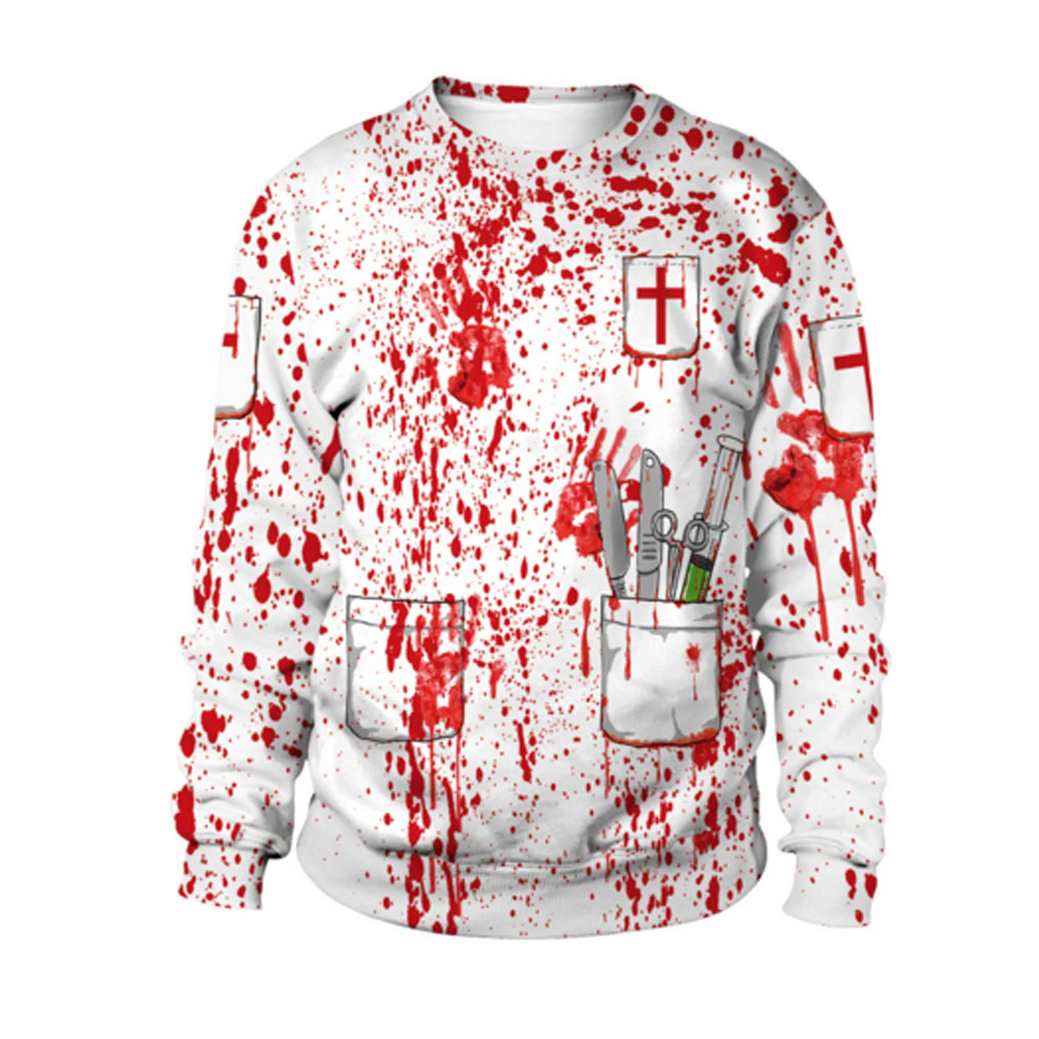 BoToKiNo Cheap Scary Halloween Hoodies Sweatshirts for Women and Men