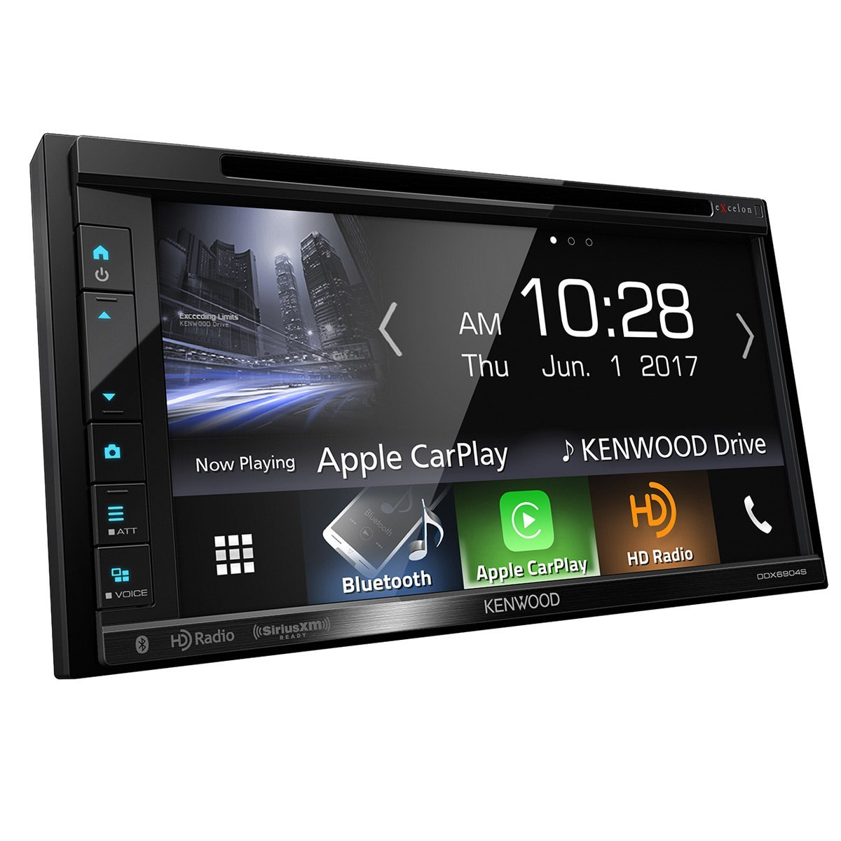 Kenwood eXcelon DDX6904S DVD Receiver with CarPlay, Android Auto, Bluetooth  and HD Radio (Renewed)