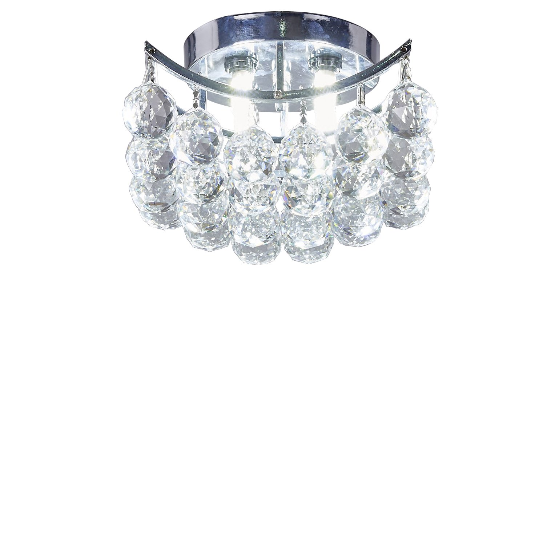 Diamond Life Clear European Crystals Chandelier Square 4-bulb Flush Mount Light (Silver)