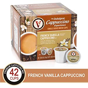 French Vanilla for K-Cup Keurig 2.0 Brewers, 42 Count, Victor Allen's Coffee Cappuccino Single Serve Coffee Pods