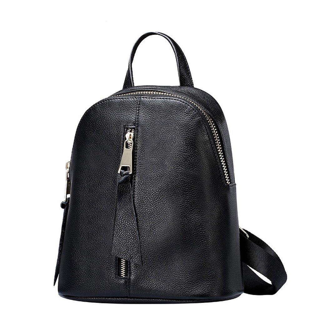 Yaoko Women Fashion College School Bag Hiking Travel Backpack (Black)