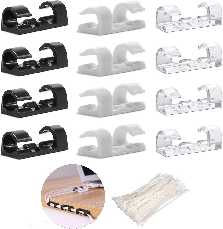 Selbstklebende Kabel-Clips selbstklebende Kabel-Tropfen Nylon Kabelbinder Wraps 100 St/ück Kabelbinder